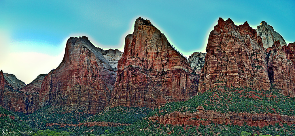 Views inside Zion Zion National Park, Utah