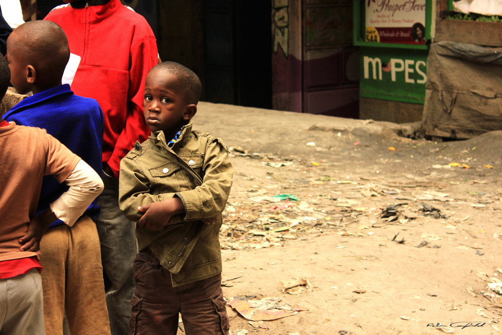 On the street in the Haruma slum. Nairobi, Kenya