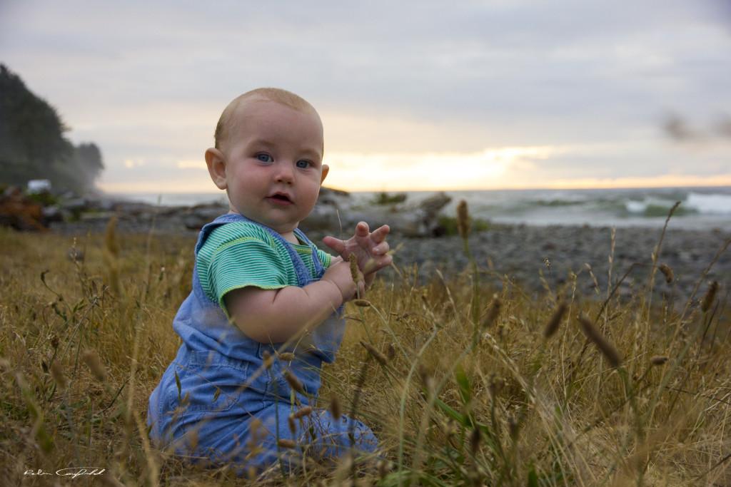 My son enjoying the coast. Seaside, Oregon.