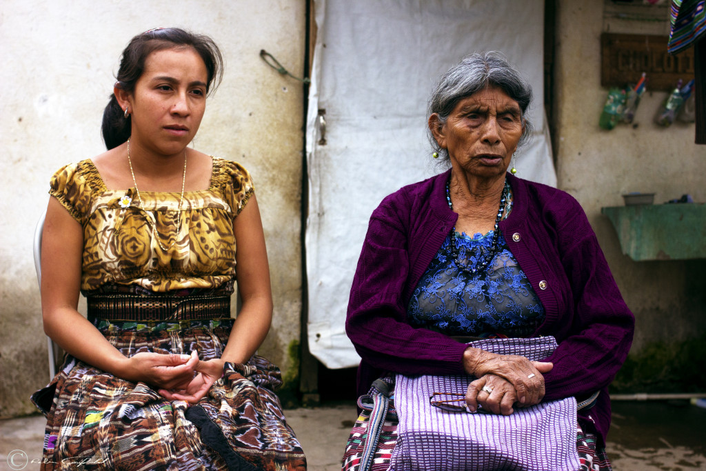 Tzutujil Medicine Women in Discussion. San Juan la Laguna, Guatemala.