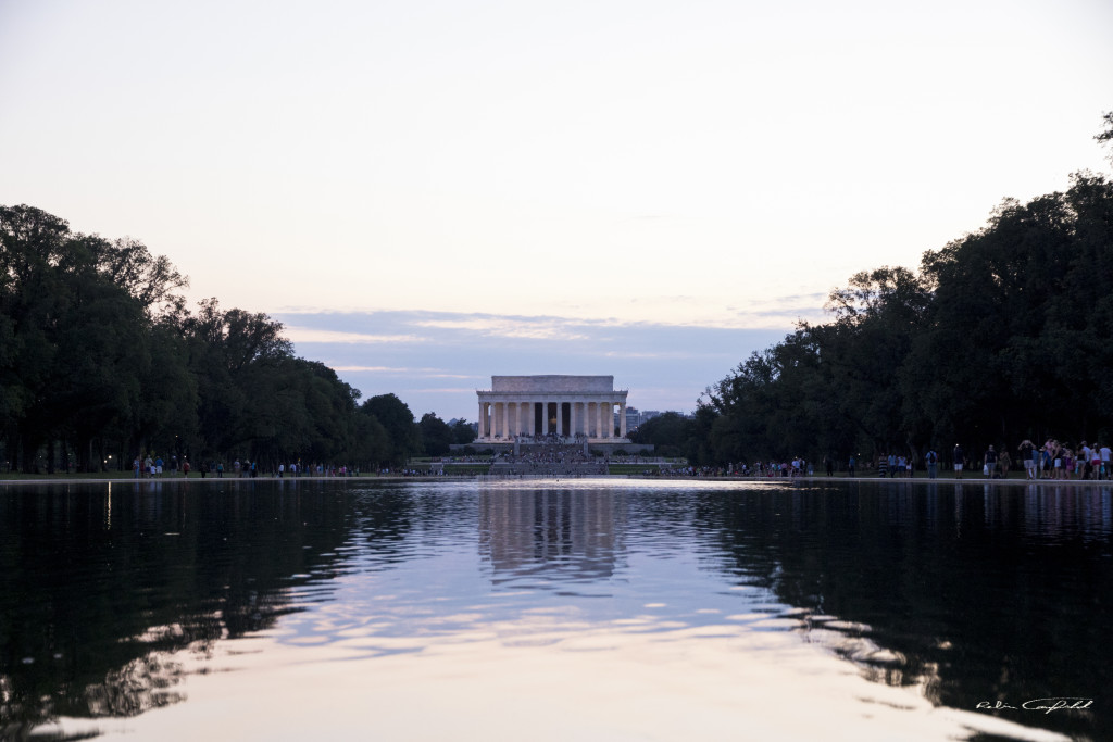 Lincoln's Memorial across the pool. Washington, D.C. - August, 2015