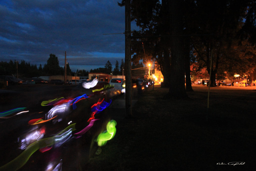 A short lantern festival ended in circling the park. Dayton, Oregon  2015